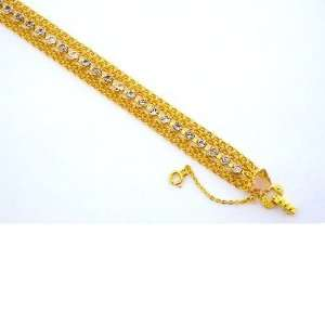 Multi Chain & Crystal Bracelet