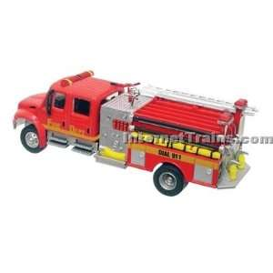 Boley HO Scale International 4300 2 Axle Crew Cab City Fire Engine