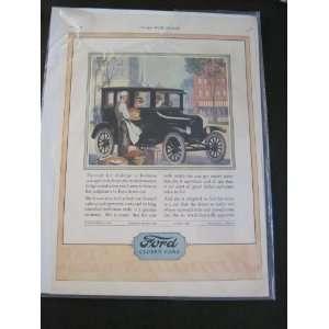 1924 FORD AUTOMOBILE PRINT AD