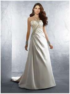 Bride Bridal bridesmaid gown evening /wedding dress all size & color