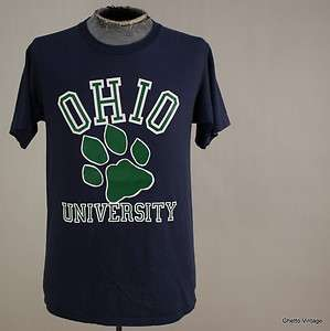 Vtg 80s OHIO UNIVERSITY BOBCATS t shirt LARGE
