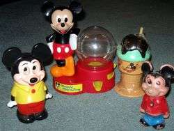DISNEY vintage MICKEY MOUSE lot toys wind up, Illco +++
