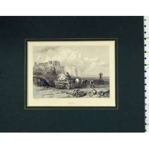 1840 Antique Print View Dieppe France Horse Cart Cooke: Home & Kitchen