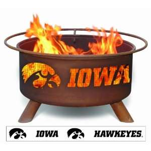 Iowa Hawkeye Fans   Hawkeye Logo Fire Pit: Patio, Lawn