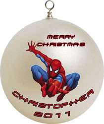 Personalized Spiderman Christmas Ornament Custom Gift