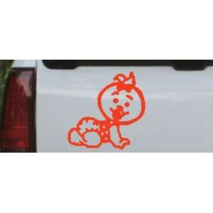 Red 22in X 22.0in    Baby Girl Crawling Car Window Wall Laptop Decal