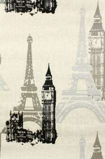 BESTSELLER TAPETE London Paris 734805 Big Ben Eifelturm