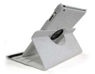 For ipad 2 360° Rotating Stand Smart leather case cover with Embossed