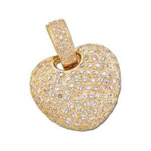2 ct tw Pave Diamond Heart Pendant   2 CT TW Jewelry