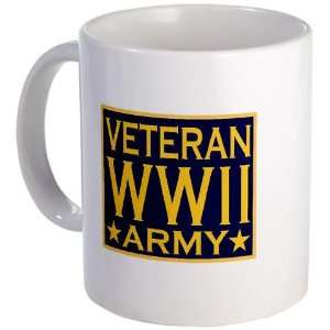 ARMY VETERAN WW II Military Mug by CafePress Kitchen