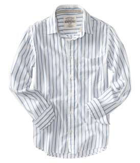 Aeropostale mens striped button up front pocket shirt   Style #9792