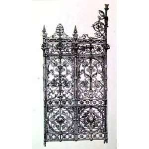 Wrought Iron Gate V   Poster (14x18):  Home & Kitchen