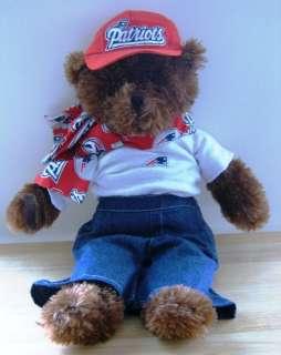 Patriots NFL PLUSH Dressed Teddy BEAR Brown Football 20