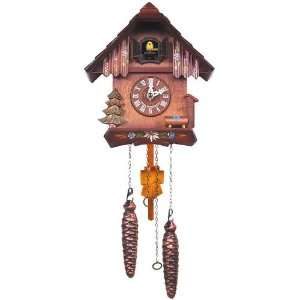 Black Forest German Cuckoo Clock with Yellow Bird Home