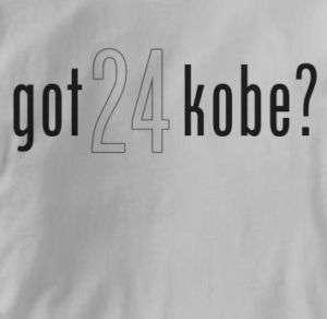 Kobe Bryant got kobe GRAY Los Angeles Lakers T Shirt XL