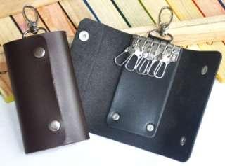 Portable PU Leather Key Bag Keychain Holder Case Purse Wallet (LB0010
