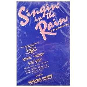 SINGIN IN THE RAIN (ORIGINAL BROADWAY THEATRE WINDOW CARD)