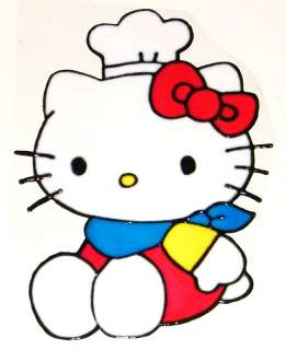 WINDOW COLOR Fensterbild Hello Kitty als Koch Haftfolie