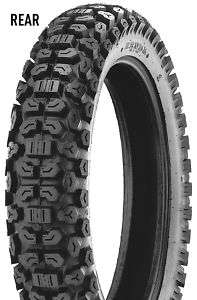 K270 DUAL SPORT MOTORCYCLE TIRE WITH NEW TUBE 3.50 18