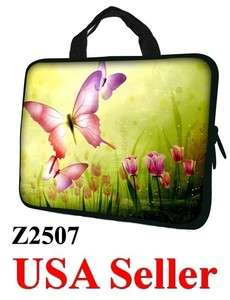 17 17.3 LAPTOP SLEEVE BAG CASE w HIDDEN HANDLE BUTTERFLY Z2507   USA