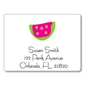 Polka Dot Pear Design   Square Stickers (Watermelon)