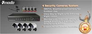 ZMODO 4 Outdoor Day Night Home Surveillance Security Camera System NO