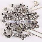 40Pc Tibetan Silver MIXED Large Hole Beads Fit Charm