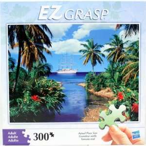 Hasbro EZ Grasp 300 Piece Puzzle   Tropical Island/Boat: Toys & Games