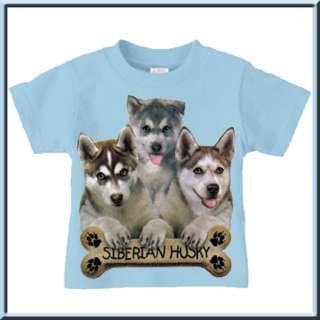 Siberian Husky Puppy Dog Bone T Shirt TODDLERS & KIDS
