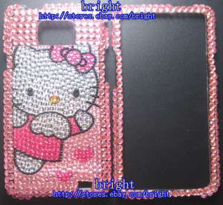 Hello Kitty Bling Case For Samsung Galaxy S2 i9100 #3