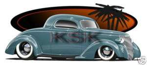 EB15 T Shirt Hot Rod Brockmeyer 1936 36 3 window Coupe