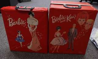 Lot of 26 Early 1960s Barbie & Ken Outfits / Clothes with 2 Barbie
