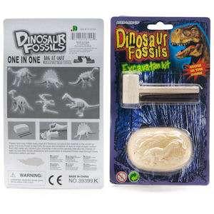 Educational Dinosaur Fossil Excavation Kit Dino Toy Egg