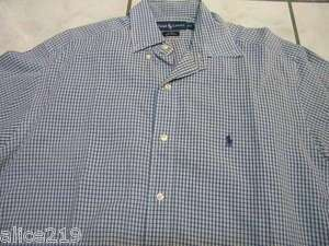 TOMMY HILFIGER S/S PLAID SHIRT TOP MENS MEDIUM M MED