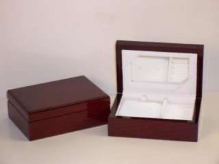 New Small Wooden Laquered Wood Jewelry Box