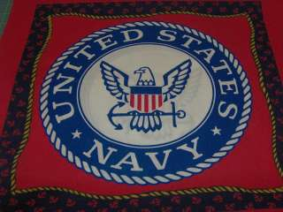 Yard United States Navy Pillow panel Fabric