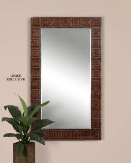 Large Old World Tuscan Metal Wall Mirror Floor Mirror