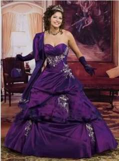 purple Quinceanera Wedding Party evening Dress Prom Ball Gown