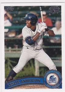 Leslie Anderson Tampa Bay Rays 2011 Topps Pro Debut