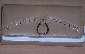 Franco Sarto Copa genuine Leather Clutch Wallet Checkbook slot