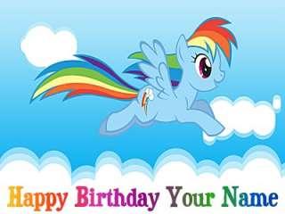 Rainbow Dash   My Little Pony  6   Edible Photo Cake Topper