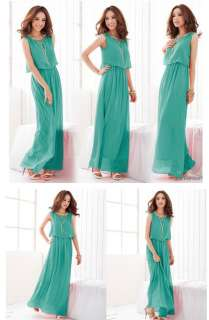 Brand New Style the Bohemian Chiffon Maxi Dress 4 the Color 0008