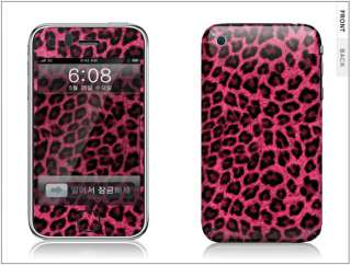 APPLE IPHONE 3G/3GS Skin Cover Sticker LEOPARD +CLEANER