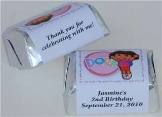 60 DORA BIRTHDAY PARTY FAVORS CANDY WRAPPER LABELS