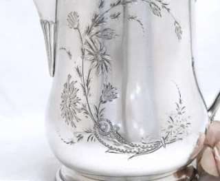 Fall Sale Gorgeous Huge VICTOR Silver Lemonade Or Water PITCHER 1890