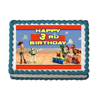 TOY STORY #1 Edible Cake Image Party Custom Decoration