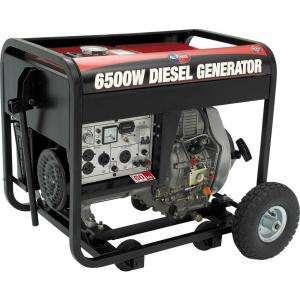 All Power 6500 Watt 10 HP Diesel Generator, Electric Start Battery