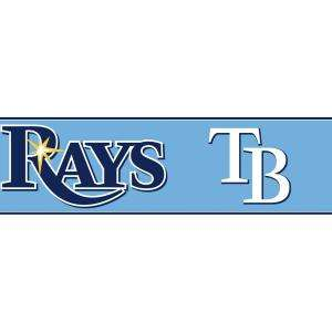 Major League Baseball Boys Will Be Boys II 6 In. Tampa Bay Rays Border