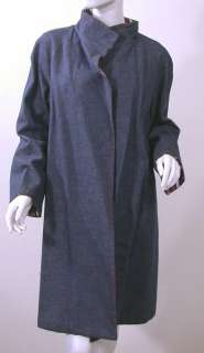 Vtg 50s Reversible Blue Denim Red Stripe Swing Coat