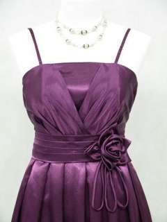 Cherlone Satin Dark Purple Long Prom Ball Gown Wedding/Evening Dress